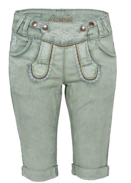 Color Jeans Bermuda hellgrün