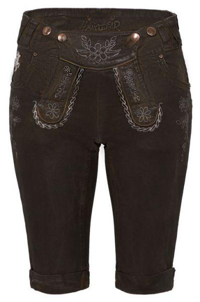 Color Jeans Bermuda darkbrown coated